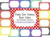 Polka Dot Frames Basic Colors