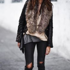 Combining textures is a must this season.