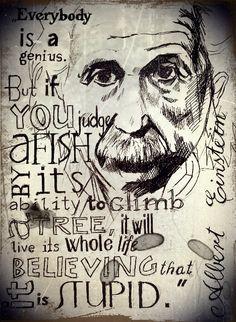 Albert Einstein/ perokresba