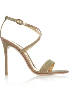 Holidays are coming :)  Gianvito Rossi | Metallic glittered sandals