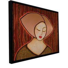 'Retreat into Silence' by Gloria Rothrock Framed Painting Print on Wrapped Canvas