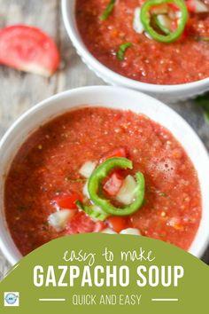 Best Soup Recipes, Best Vegetarian Recipes, Healthy Soup Recipes, Chili Recipes, Lunch Recipes, Easy Dinner Recipes, Real Food Recipes, Summer Recipes, Healthy Meals