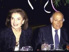 Former First Lady Jackie Kennedy Onassis and Friend Maurice Tempelsman ...