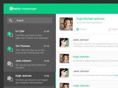 Chatty messenger web concept