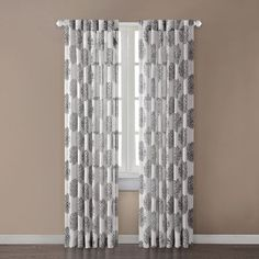 "Addison Silk Window Curtain Single Panel Size: 84"" H x 52"" W, Color: Grey JLA Home http://www.amazon.com/dp/B009KHASUQ/ref=cm_sw_r_pi_dp_Wo4Aub1XWA61Q"