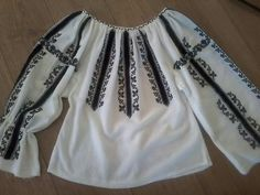 Folk Embroidery, Modern Embroidery, Folk Costume, Boho Shorts, Traditional, Blouse, Handmade, Tops, Fashion
