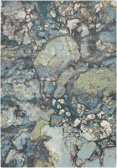 Surya ABE8014 Aberdine Blue, Green Rectangle Area Rug