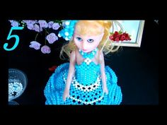 How to bead anime accessory: Barbie doll (style Brick Stitch Tutorial, Bead Crafts, Barbie Dolls, Elsa, Disney Characters, Fictional Characters, Youtube, Beads, Disney Princess