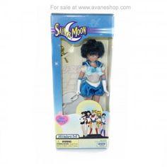 Sailor Moon Doll 6 inch Pretty Face Sailor Mercury Doll New in Box Blue Box Sailor Moon Toys, Sailor Moon Art, Sailor Moon Merchandise, Sailor Mercury, Dolls For Sale, Blue Box, Pretty Face, Fan Art, Baseball Cards