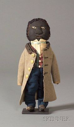 Folk Art Doll, America, c. 1863, hand-sewn figure