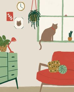 New house drawing simple home ideas Photo Chat, Dibujos Cute, Guache, House Drawing, Illustrations And Posters, Watercolor Illustration, Cat Art, Art Inspo, Art Drawings
