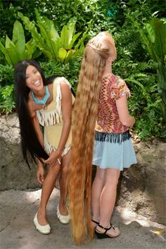 nice Braids & Hairstyles for Super Long Hair: VIDEO: Meeting Pocahontas at Disney World (and showing her my super long hair) Really Long Hair, Super Long Hair, Beautiful Long Hair, Gorgeous Hair, Down Hairstyles, Braided Hairstyles, Wedding Hairstyles, Rapunzel Hair, Long Hair Video