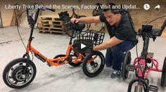 Electric Bike Technologies - Behind the Scenes, Factory Visit and Liberty Trike Updates Electric Bike Review #electricbike