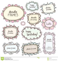Doodles Frames - Download From Over 45 Million High Quality Stock Photos, Images, Vectors. Sign up for FREE today. Image: 18568773