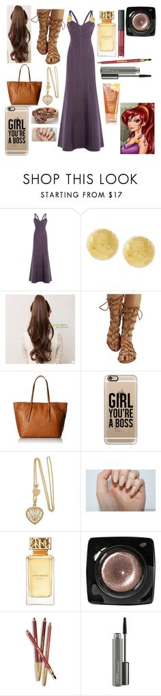 """""""Megara's Prom Outfit!"""" by sisibff ❤ liked on Polyvore featuring Hervé Léger, Vince Camuto, Cole Haan, Casetify, Tory Burch, Bobbi Brown Cosmetics, Sisley and MAC Cosmetics"""
