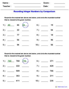 Check out our rounding worksheets!   Math - Super Teacher ...