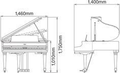 1000 images about furniture on pinterest yamaha grand On yamaha grand piano dimensions
