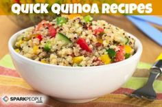 Quinoa is a tiny super food that's packed with protein! Try these new recipes to get your daily quota of quinoa.