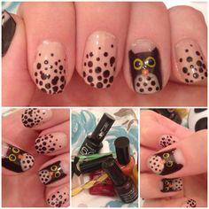 Yeah, I like owls... a lot. #owlnailart