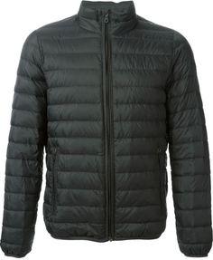 Armani Jeans zipped padded jacket on shopstyle.com