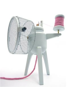 A hamster-powered i-cord knitter - what will they come up with next?