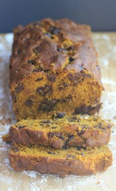 "This ""One Bowl"" Chocolate Chip Pumpkin Bread will satisfy all your pumpkin AND chocolate cravings! {gluten-free, dairy-free, low FODMAP option}"