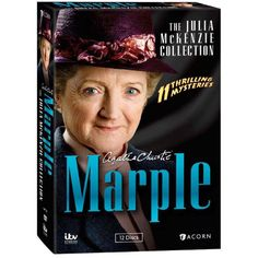 """Agatha Christie''s Marple: The Julia McKenzie Collection - In the latest Marple series, Agatha Christie's spinster sleuth was brilliantly portrayed by Geraldine McEwan (series 1–3) and Cranford''s Julia McKenzie (series 4–6). Each donned the trademark tweeds with authority and grace. This collection gathers all 11 feature-length dramas starring McKenzie and seen on Masterpiece Mystery! """"Frighteningly fun"""" (Entertainment Weekly)."""