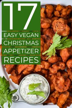 17 easy vegan Christmas appetizers that are a must-have for your holiday party or gathering. Impress your family and friends with this delicious, and healthy, list of vegan finger foods. Whole food, plant-based, and oil recipes. Bite Size Appetizers, Vegan Appetizers, Vegan Snacks, Appetizers For Party, Appetizer Recipes, Dinner Recipes, Vegan Finger Foods, Vegan Stuffed Mushrooms, Vegan Cashew Cheese