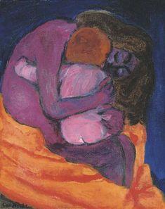 Mutter und Kind, Emil Nolde. German Expressionist Painter (1867 - 1956)