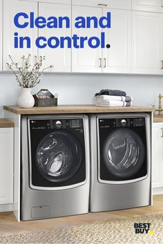 Save up to on Appliance Top Deals. With the LG Smart ThinQ app, you can start and monitor your washer and dryer while you're out to dinner, at a game or in the middle of a TV binge session on your couch. Pretty helpful, right? Minimum savings is O Laundry Room Design, Laundry Rooms, Bathroom Laundry, Lg Washer And Dryer, Minions, Top Deals, Kitchen Remodel, Kitchen Reno, Kitchen Storage