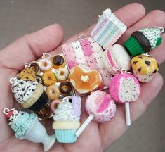 A sweet little handful of necklace charms from recent orders.