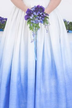 diy dip dyed wedding dress and wedding table3