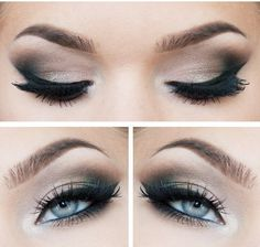 Smokey eyes and Eyeliner - Best Make-up for Blue eyes (Favorite Pins Awesome)