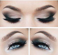 Smokey eyes and Eyeliner - Best Make-up for Blue eyes