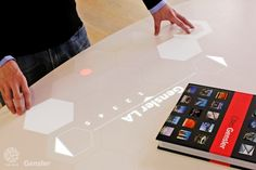 Office Lobby Uses Augmented Reality To Show Off Company's Portfolio (Gensler and The Hive)