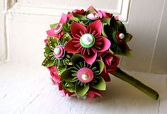 Hot pink and green #wedding bouquet. Perfect for your destination wedding!
