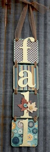 Fall Coaster Letters - Could be used for any holiday with different scrap paper.