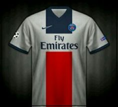 Paris St Germain away shirt for 2013-14.
