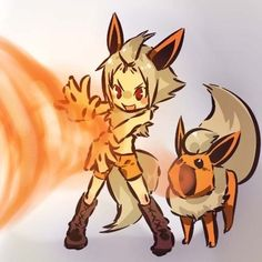 Flareon | Community Post: 100 Human-Like Pokémon Adaptations