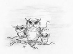 I would love this owl tattoo on my left thigh. It could be me and my two girls. I would add some little flowers and a new baby owl every time we have another baby.