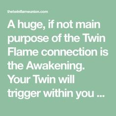 A huge, if not main purpose of the Twin Flame connection is the Awakening. #twinflame #twinflames #twinflameunion #twinflamequotes #twinsoul #twinflamelove #ascension #awakening #spiritualawakening #1111