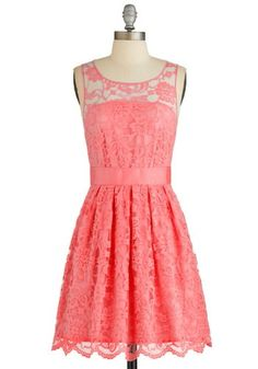 """When the Night Comes"" dress in coral"