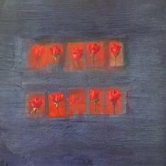 Red Roses On Blue, Painting, Mario Madiai Blue Painting, Red Roses, Mario, The Originals, Artist, Artists
