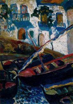 Calá Pianc - Salvador Dalí 1919. Óleo sobre lienzo. 38.4 x 27.4 cm. Al reverso la pintura Claro de luna sobre la bahía de Cadaqués. Propiedad particular.