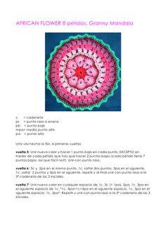 granny-mandala-african-flower-8-petals-espaol-english by Crochetingclub Blogspot via Slideshare