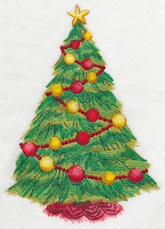 Machine Embroidery Designs at Embroidery Library! Christmas Colors, Christmas Ornaments, Christmas Trees, Christmas Tree Embroidery Design, Christmas Templates, Free Machine Embroidery Designs, Watercolor Design, Projects To Try, Quilts