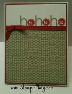 handmade Christmas card ...no stamping card ... luv the die cut HOHOHO with filled circles for the O's ...