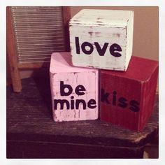 Valentine blocks Details and order info at www.facebook.com/stiltnerscrafts
