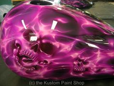 purple and orange paint scheme for harley | More photos below, check out our site for a complete showing.