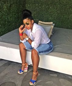 : My sista girl in my head - Chrissy Lampkin Fashion Friday here @ Queen Me Mode Outfits, Short Outfits, Chic Outfits, Summer Outfits, Fashion Outfits, Womens Fashion, Fashion Ideas, Curvy Girl Fashion, Look Fashion